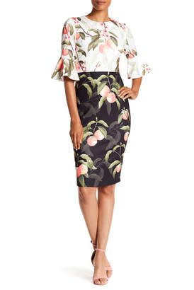 Ted Baker Areea Peach Blossom Sheath Dress