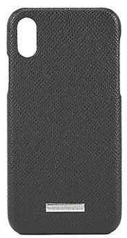 HUGO BOSS Signature Collection iPhone X case in Italian calf leather