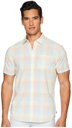 Original Penguin Short Sleeve Stretch P55 Medium Plaid Men's T Shirt