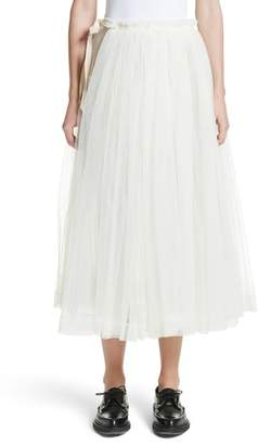 MOLLY GODDARD August Tulle Wrap Apron Skirt