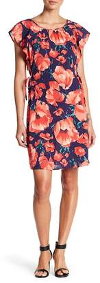 Joe Fresh Floral Flutter Sleeve Dress
