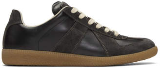 Maison Margiela Black and Brown Replica Sneakers
