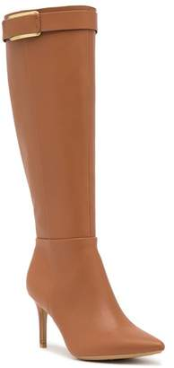 Calvin Klein Glydia Leather Stiletto Wide Calf Tall Boot