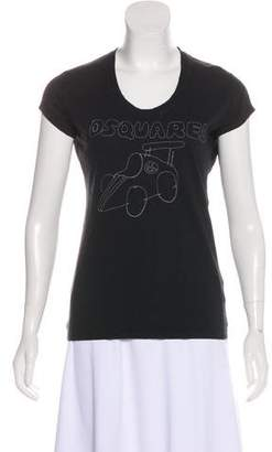 DSQUARED2 Distressed Short Sleeve Top