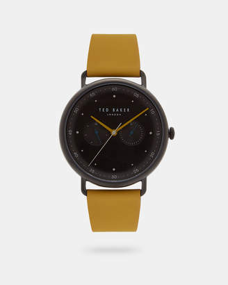 Ted Baker GEOORGE Leather strap watch