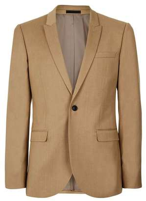 Camel Skinny Fit Suit Jacket $280 thestylecure.com