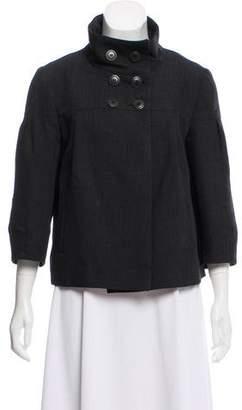 Comptoir des Cotonniers Stand Collar Wool-Blend Jacket