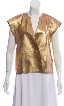 Marc Jacobs Metallic Leather Top