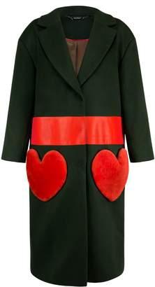 Vols & Original Cashmere & Leather Oversized Coat Love