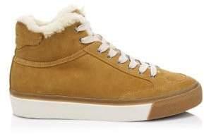 Rag & Bone Rag& Bone Rag& Bone Women's Army High Flocked Suede Platform Sneakers - Tan - Size 36 (6)