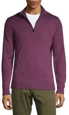 Black & Brown Black Brown Quarter-Zip Merino Sweater