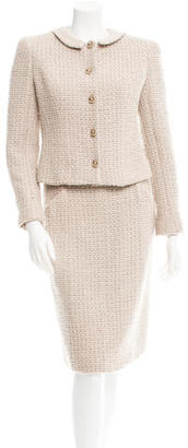 Chanel Tweed Skirt Suit $1,125 thestylecure.com