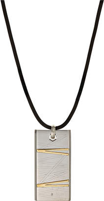 Damiani Bliss By Stainless Steel Flash Pendant Necklace w/ Diamond