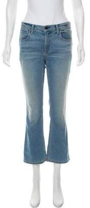 Alexander Wang Denim x Mid- Rise Wide- Leg Jeans