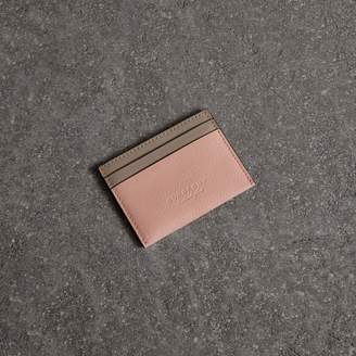 Burberry Two-tone Leather Card Case