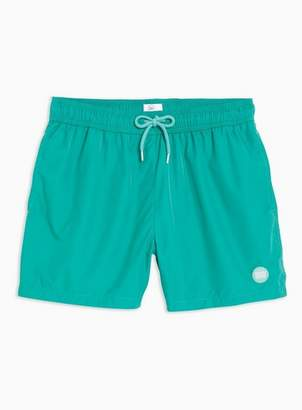 Topman Mens Blue Teal Swim Shorts