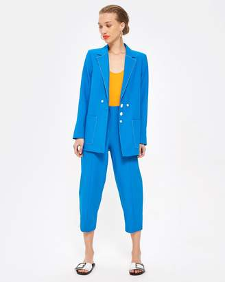 Topshop Contrast Stitch Suit Trousers