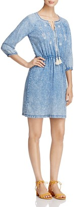 Design History Embroidered Chambray Peasant Dress $108 thestylecure.com