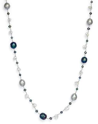 """Bloomingdale's Cultured Freshwater Pearl and Keshi Pearl Necklace in 14K White Gold, 18"""""""