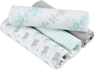 Aden Anais aden by aden + anais 4-Pk. Baby Star Swaddle Blankets, Baby Boys & Girls