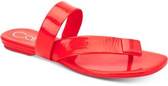 Calvin Klein Saurin Flat Sandals Women Shoes
