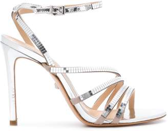 Schutz metallic open-toe sandals