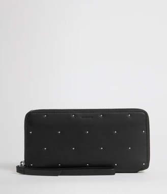 AllSaints Kathi Leather Phone Wristlet