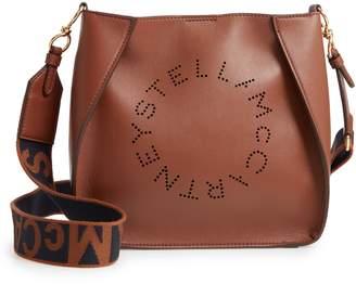 Stella McCartney Perforated Logo Faux Leather Crossbody Bag 950dae7558403