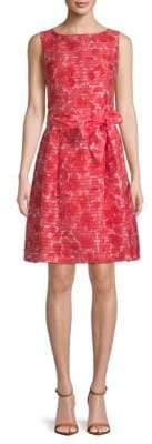 Anne Klein Rosewater Shadow Stripe A-Line Dress
