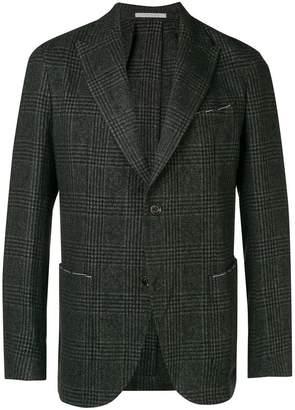 Eleventy checked fitted blazer