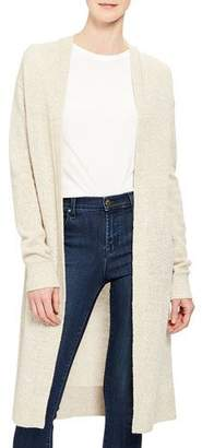 Theory Linen/Cashmere Open-Front Cardigan