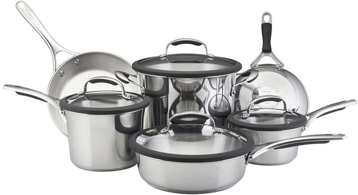 KitchenAid gourmet 10-pc. stainless steel cookware set