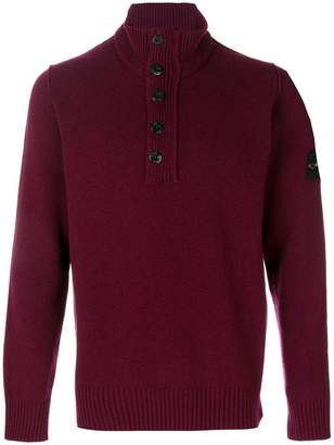 Stone Island zipped high neck sweater