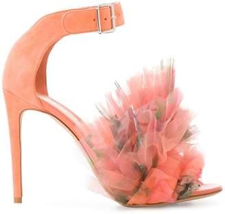 Alexander McQueen Heart sandals with ruffle detailing