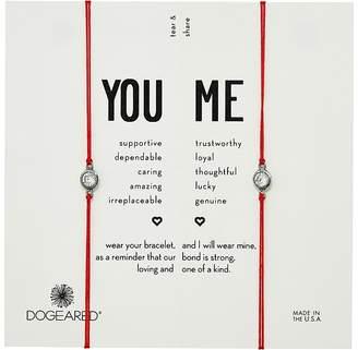 Dogeared You + Me, Crystal On Red Cord Friendship Bracelets, Set of 2 Bracelet