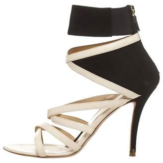 Alessandro Dell'Acqua Black Leather Sandals