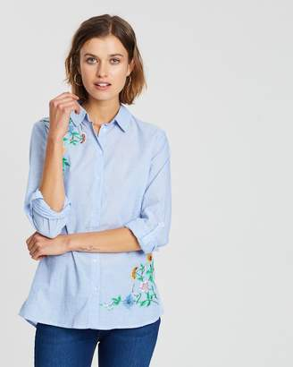 Dorothy Perkins Chambray Beaded Embellished Shirt