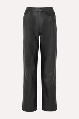 3.1 Phillip Lim Pleated Leather Pants - Black