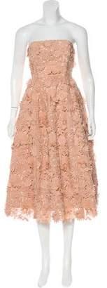 Nicholas Strapless Knee-Length Dress