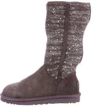 UGGUGG Australia Embellished Knit Ankle Boots