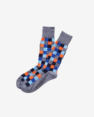 Express Marl Check Print Dress Sock