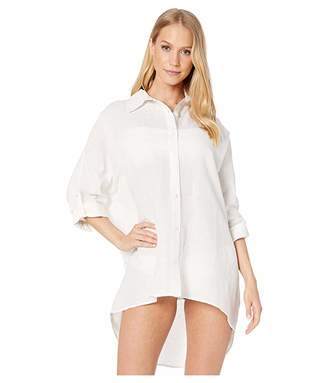 Seafolly Lightweight Linen Blend Shirt Cover-Up
