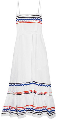 Lisa Marie Fernandez - Rickrack-trimmed Linen Midi Dress - White $995 thestylecure.com