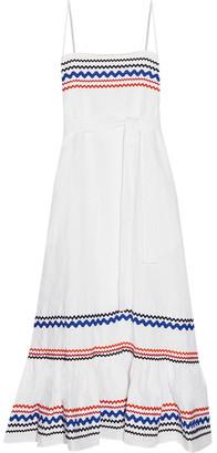 Lisa Marie Fernandez - Rickrack-trimmed Linen Maxi Dress - White $995 thestylecure.com