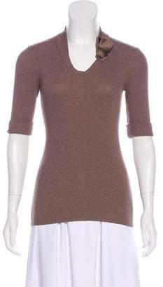 Brunello Cucinelli Knit Short Sleeve Top