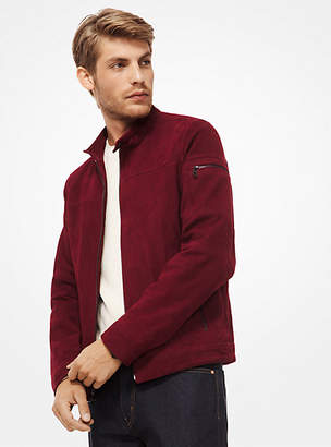 Michael Kors Perforated Suede Racing Jacket