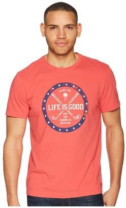 Life is Good Golf Course Crusher Tee Men's T Shirt