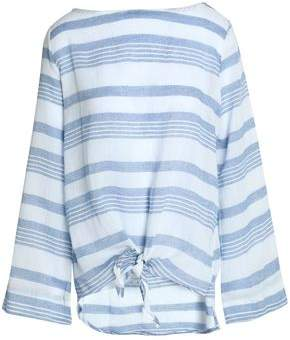 Kain Label Tamsin Tie-Front Striped Cotton-Gauze Top
