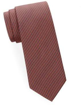 Brioni Abstract Geometric Silk Tie
