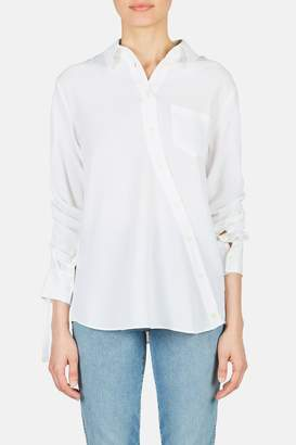 Altuzarra Garcia Asymmetric Button Down Blouse - Optic White